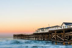 'Crystal Pier Dawn In San Diego' Fine Art Photography by Priya Ghose as poster or art print. #SanDiego #PacificBeach #California
