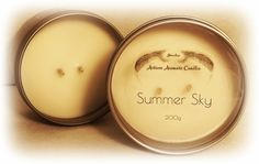 Juvelee Artisan Aromatic Summer Sky Triple Scented Hand Poured Soy Wax Candles 200g } FREE SHIPPING by Juvelee on Etsy