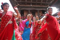 Teej is a generic name for a number of festivals that are Celebrate in Nepal. Teej welcome in monsoon season and are celebrated primarily by girls and women. Wearing color full dresses and maxima people used red because red is symbol of love.