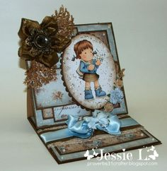 Really Reasonable Ribbon's Ramblings!: Tilda's Blue and Brown Celebration (and a ribbon flower tutorial)