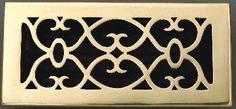 Atlanta Supply  Victorian   Floor Registers Polished Solid Brass with Damper