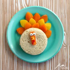 Turkey Sandwich Fun Food Craft by Wendy Copley  #Thanksgiving