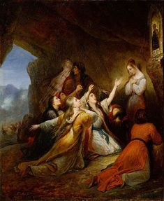 Ary Scheffer by Greek Women Plead for the Virgin's Help is in the collecion of the National Museum of Western Art, Tokyo. Greek Paintings, Classic Paintings, Art Occidental, Google Art Project, Jean Marie, Mystique, Greek Art, Catholic Art, Art Archive