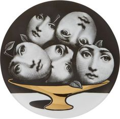 """Fornasetti """"Faces In Fruit Bowl"""" Plate at Barneys New York"""