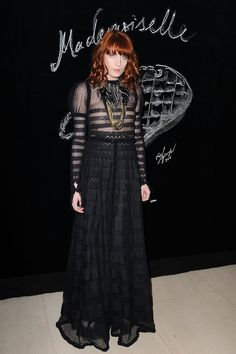 Florence Welch at a Chanel Dinner in Honor of Blake Lively Mar 5 2011