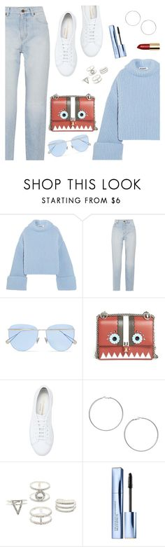 """""""Daily look"""" by dressedbyrose ❤ liked on Polyvore featuring Jil Sander, Yves Saint Laurent, Sunday Somewhere, Fendi, Common Projects, Miss Selfridge, Charlotte Russe, Estée Lauder, StreetStyle and ootd"""
