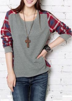 Women's Clothing Self-Conscious Women Big Size Black Plaid Blouse Spring Cotton Linen Loose Shirts Female Spliced Pleated Casual Tops