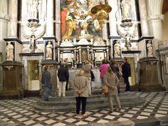 Visite guidée de l'église Notre Dame de Calais - ici le retable - été 2015