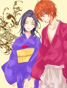 Kenshin and Kaoru.....cute....❤❤❤❤