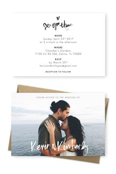 Rustic Beach Wedding Invitation Ideas | Brush Lettering | Beach Wedding Ideas | Katherine Garcia | For the Love of Stationery