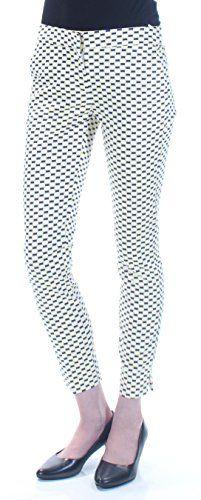 59 Womens New 1503 White Geometric Curvy Fit Slim at Ankle Pants 0 B B