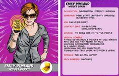 Tarjetas de super héroes para los bibliotecarios