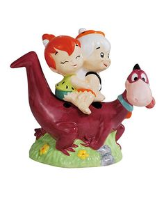 Another great find on #zulily! Dino Back Ride Flintstones Salt & Pepper Shakers #zulilyfinds