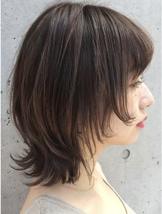 Bob Style Haircuts, Short Bob Hairstyles, Hairstyles With Bangs, Japanese Haircut, Japanese Hairstyle, Dye My Hair, New Hair, Medium Hair Cuts, Medium Hair Styles