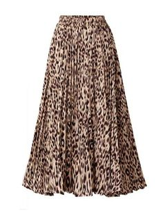 CHOiES record your inspired fashion Women's Leopard Print Long Skirts Elastic High Waisted Plus Size Bohemian Maxi Skirt Jupe Swing, Swing Skirt, Bohemian Maxi Skirt, Boho Skirts, Midi Skirts, Womens Maxi Skirts, Long Skirts For Women, Leopard Print Skirt, Maxi Dress With Sleeves