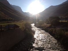 #Vald'Isère #Alpes #station #montagne #ski #France #matin #soleil #eau #torrent #run