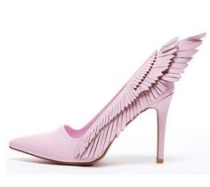 75.00$  Watch here - http://aiq4e.worlditems.win/all/product.php?id=32788700760 - hot selling pink suede high heel shoes sexy pointed toe woman pumps 2017 wings designs thin heels shoes stiletto heels