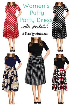 634e42092e59a I love this dress so much Womens Puffy Dress with Pockets Best Holiday  Deals, Online