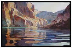 """Rock Creek Afternoon"" - Lake Powell Original #Watercolor by David Drummond"