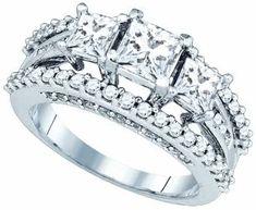 Dazzlingrock Collection 2 1/4 Carat Diamond C=3/4-S=1/3 Bridal Set
