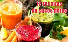 Doze receitas de sucos detox naturais seca barriga #sucos #detox #receitas #fit #fitness #dieta #academia