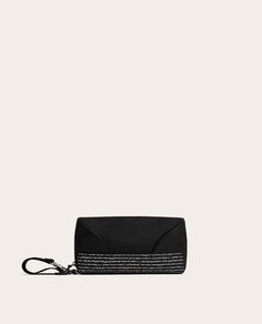 Image 5 of BLACK TOILETRY BAG WITH SLOGAN from Zara