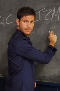 Oh,Alaric Saltzman, hottest teacher turned Original Vampire back from the dead compelled a job as a Professor at Whitmore College, drool!! The Vampire Diaries