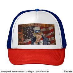 Steampunk Sam Patriotic US Flag Design