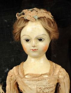 "Lot # : 707 - Exceptional All Original Queen Anne 17"" ca. 1720 wooden doll, sold via auction $46,360 USD"