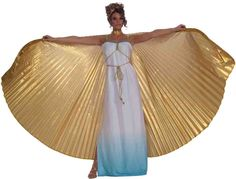 Gold Cape for Cleopatra costume