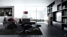 Make a Contemporary Living Room with Accelerating Feeling