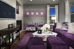 15 Catchy Living Room Designs Interesting Purple Home Design Ideas