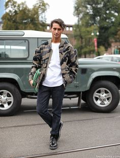 Simone Marchetti at Milan Fashion Week #menswear #streetstyle