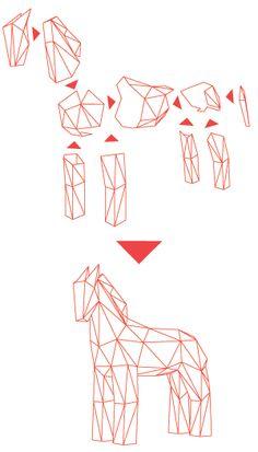 Fold your Trojan Horse Compass Icon, Trojan Horse, Horse Illustration, Horses, Templates, Cards, Art Ideas, Costume, Logo