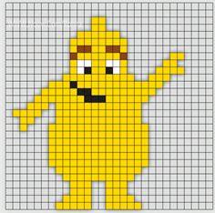 Min mamma jobbar som Förskollärare och frågade om jag kunde göra Babblarna i pärlplattor. Så jag satte mig ner vid skrivbordet och började pyssla ihop lite pärl Knitting For Kids, Baby Knitting Patterns, Loom Knitting, Fuse Bead Patterns, Beading Patterns, Cross Stitch Patterns, Saga, Hama Beads Design, Alpha Patterns