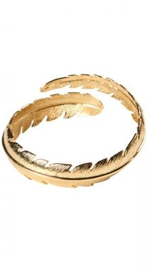 Feather Bangle - Gold