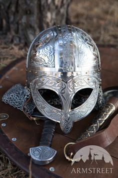 Exclusive Viking's Valsgaarde Stainless Steel Helm :: by medieval store ArmStreet