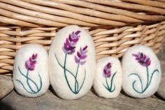Felted Soap Merino Wool Lavender Hand by BondurantMountainArt