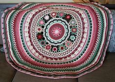 "Ravelry: bekcallahan's - Queen Mandala - Pattern is FREE UNTIL END OF JUNE 2016 - To get Pattern Join the Facebook Group ""Crochet/Hekel Mandala CAL 2016"" Pattern is in the group files                                                                                                                                                     More"