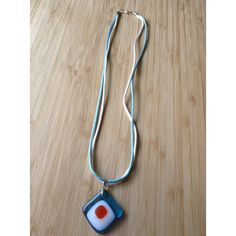 Blue white orange diamond pendant-double cord necklace-fused glass... (500 UAH) ❤ liked on Polyvore featuring jewelry, pendants, orange jewelry, diamond jewellery, pendant jewelry, long pendant and diamond pendant necklace