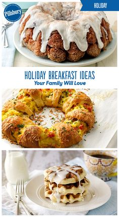 Celebrate holiday mornings with your family with these extra-special and extra-delicious breakfast ideas! Ranging from sweet monkey breads to savory quiches you're sure to find an easy recipe for Christmas morning!