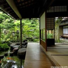 The traditional Japanese house - Dkomaison - - Japanese Garden Design Traditional Japanese House, Japanese Modern, Traditional Landscape, Modern Japanese Architecture, Japanese Buildings, Japan Architecture, Residential Architecture, Japanese Garden Design, Cool Landscapes