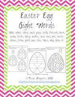 Dolch Easter Egg Sight Words - Tales from Outside the Classroom
