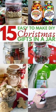 15 mason jar christmas gifts for coworkers, friends, teachers, and family. most of these diy christmas gifts in a jar are super cheap and easy to make! Diy Christmas Gifts For Coworkers, Easy Homemade Christmas Gifts, Diy Gifts In A Jar, Mason Jar Christmas Gifts, Diy Gifts For Men, Christmas Gifts For Him, Mason Jar Gifts, Christmas Diy, Christmas Stuff
