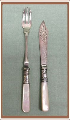 1000 images about pearl handled flatware on pinterest - Pearl handled flatware ...