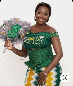 Mode Wax, Kente Dress, Black Bride, Good Marriage, Traditional Wedding, Beautiful Bride, African Weddings, Wedding Dresses, African Fashion