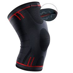 e5a5d14b5c Kuangmi Knee Support Brace Compression Sleeve Anti Slip Pain Relief For  Sports Arthritis Patella Joint Injury Recovery 1pc (advanced Blue, Xx-large)