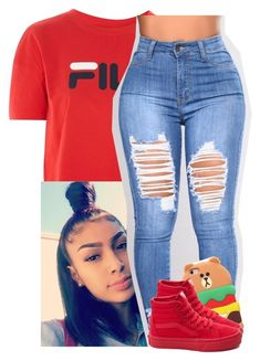 """Birthday Fit"" by xtiairax ❤ liked on Polyvore featuring Fila and Vans"
