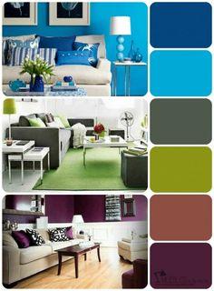 Aprende a escoger tu propia paleta de colores Colorful Furniture, Colorful Decor, Colorful Interiors, Room Color Schemes, Room Colors, Living Room Furniture Arrangement, Living Room Decor, Design Apartment, Interior Decorating