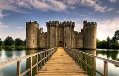 Bodiam Castle, East Sussex, England -   It was the home of the Dalyngrigge family and the centre of the manor of Bodiam. The castle is protected as a Grade I listed building and Scheduled Monument. It has been owned by The National Trust since 1925, when it was donated by Lord Curzon on his death. It is open to the public.